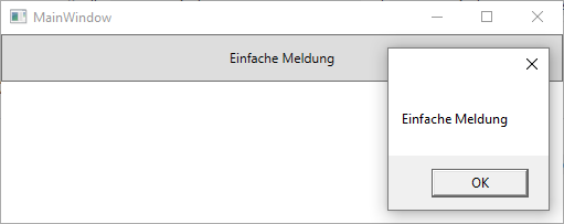 MessageBox mit WPF