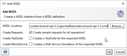 WSDL eingeben