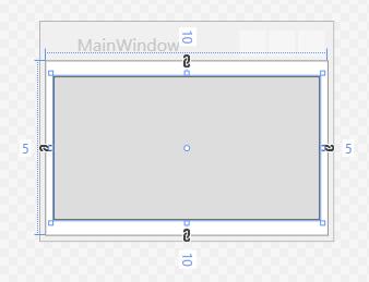 Ein Button-Element mit verschiedenen Margin-Werten