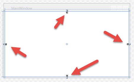 Einfaches Grid, standardmäßig an allen Seiten verankert