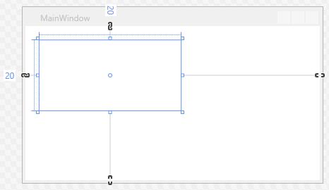 Ein aus der Toolbox hinzugefügtes Grid-Element