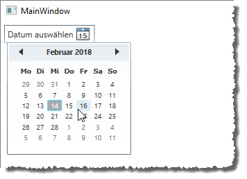 Das DatePicker-Element in Aktion