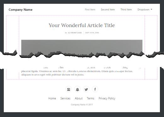 Navigation, Inhalt und Footer – fertig ist die Webseite.
