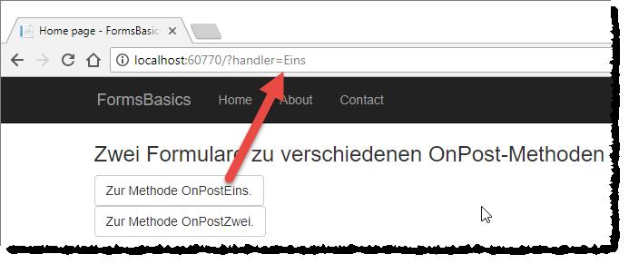 Page-Handler als Parameter beim Seitenaufruf