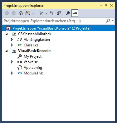 Projektmappe mit zwei Projekten