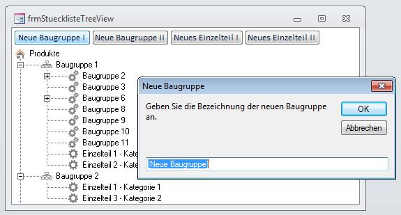 Anlegen eines neuen Elements per InputBox