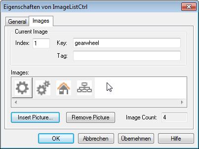 Hinzufügen der benötigten Icons für das TreeView-Steuerelement