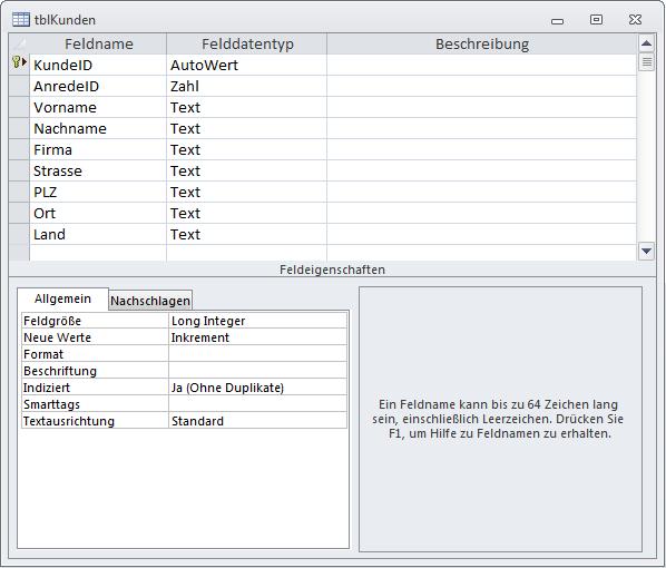 Tabelle, deren Daten beim Ändern archiviert werden sollen