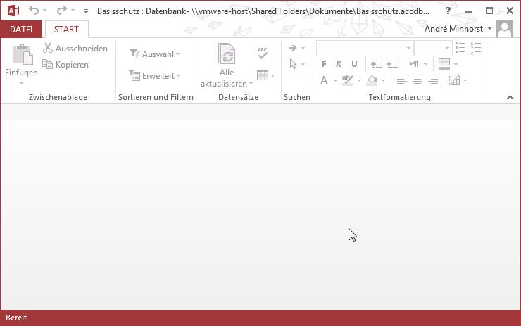 Diese Datei bietet kaum noch Möglichkeiten, auf die Datenbankobjekte zuzugreifen.
