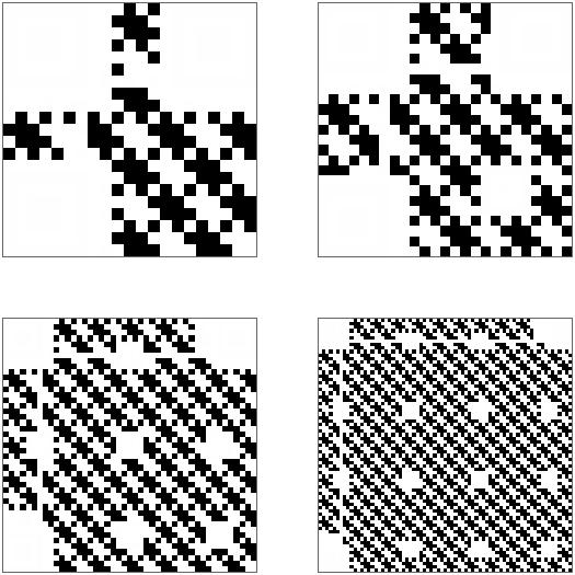 Diese Bereiche der QR-Codes werden mit den eigentlichen Daten gefüllt.