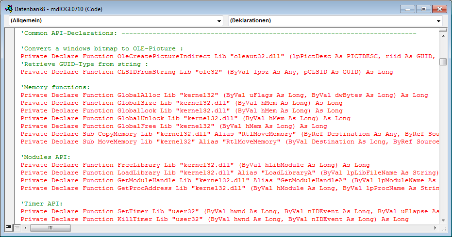 Fehlerhafte API-Deklarationen