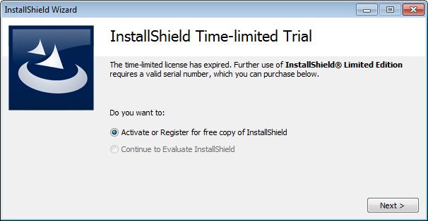 Aktivierung/Registrierung von InstallShield