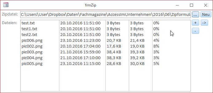 Erstellen einer Zip-Datei mit Windows-Bordmitteln