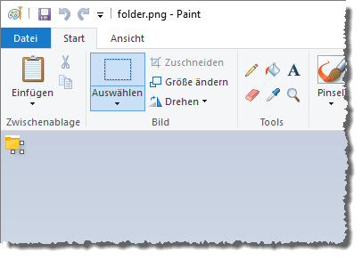 Ein Icon in Paint