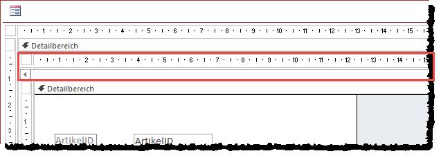 Das Formular sfmArtikelNeu überlappt nun das Formular frmArtikel